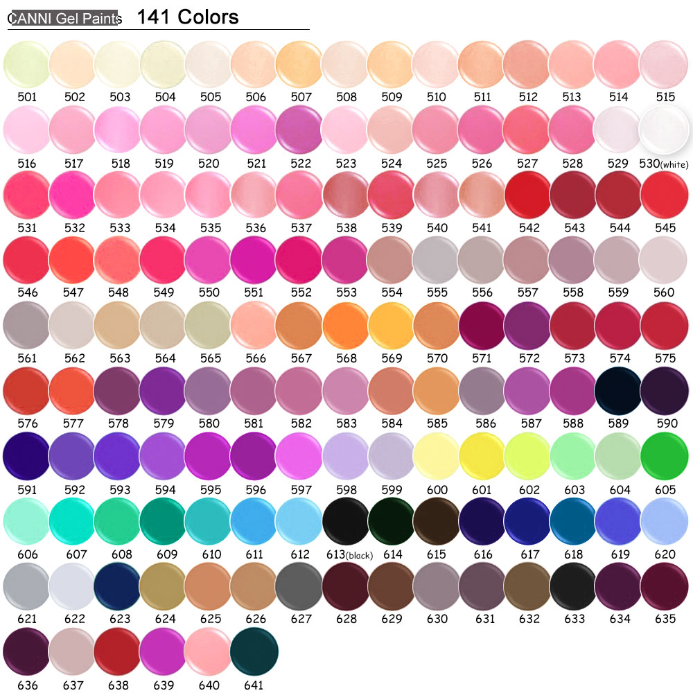 Hotest CANNI 5ml nail art painting uv gel led 141 pure color one ...