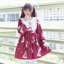 Spring fashion line Japanese Womens clothing coat Lolita Dress Sweet Rabbit Cute Retro musical instrument soft sister