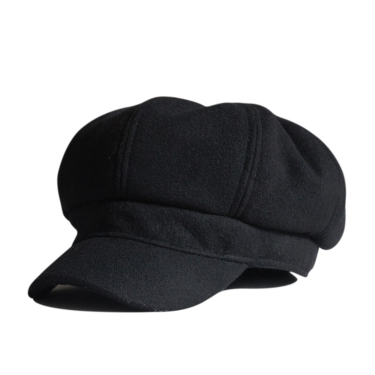 2022 Vintage Fashion Wool Women's Octagonal Visors Cap Laday girl Newsboy Virsor hat Cap Painter Beret Hat 10