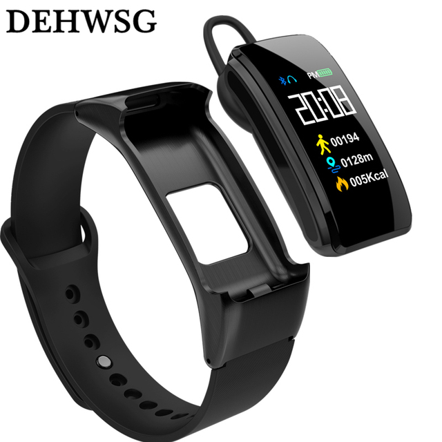 "DEHWSG Talkband B3 0.96"" Color Screen Fitness Tracker Heart Rate Monitor Blood pressure Blood oxygen Smart Band For Huawei IOS"