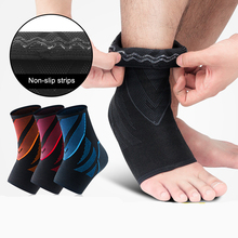 1Pcs Ankle Compression Sports Support 3D Knitting Weaving Ankle Elastic Brace Guard Anti Sprain Basketball Football Foot Safety 1pcs ankle support brace stirrup sprain stabilizer guard ankle sprain aluminum splint