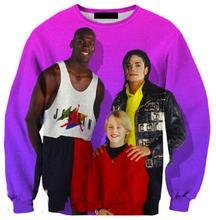 Women/men Michael Jackson and Jordan sweatshirts 3d print couple hoodies plus size harajuku sweatshirt pullovers