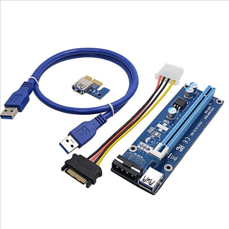 USB 3.0 pci-e PCIe Express 1x к 16x Расширенный riser адаптера добыча преобразования про ...