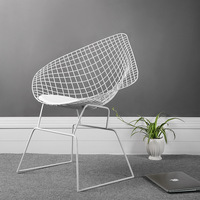 Nordic Iron Creative Hollow Coffee Leisure Chair Simple Art Metal Back Fashion Negotiation Restaurant Applicable Dining Chair