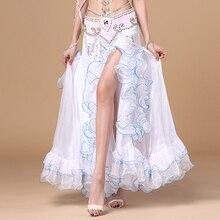 New Arrivals 5 Colors Belly Dance Clothes Full Circle Long Waist Maxi Skirt Side Split Women Chiffon Belly Dance Skirts