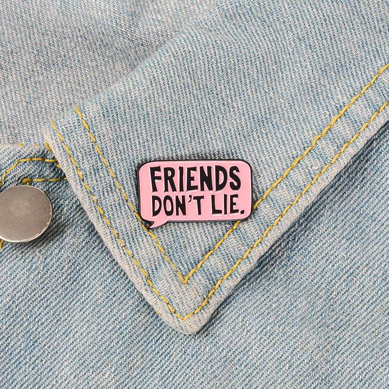 Hal Yang Aneh Enamel Pin Serial TV Eleven Bros Teman Tidak Berbohong Lencana Denim Shirt Lapel Pin Gothic Perhiasan Hadiah untuk Para Penggemar