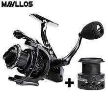 Mavllos Carp Fishing Spinning Reel 15BB Speed Ratio 4.7:1 1000 2000 3000 7000 Extra Spool Metal Saltwater Boat Fishing Reel