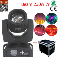 2pcs+flight case Sharpy 230w Beam Moving Head Spot Light Touch Screen Rotation Beam 230 7r Disco Stage Light