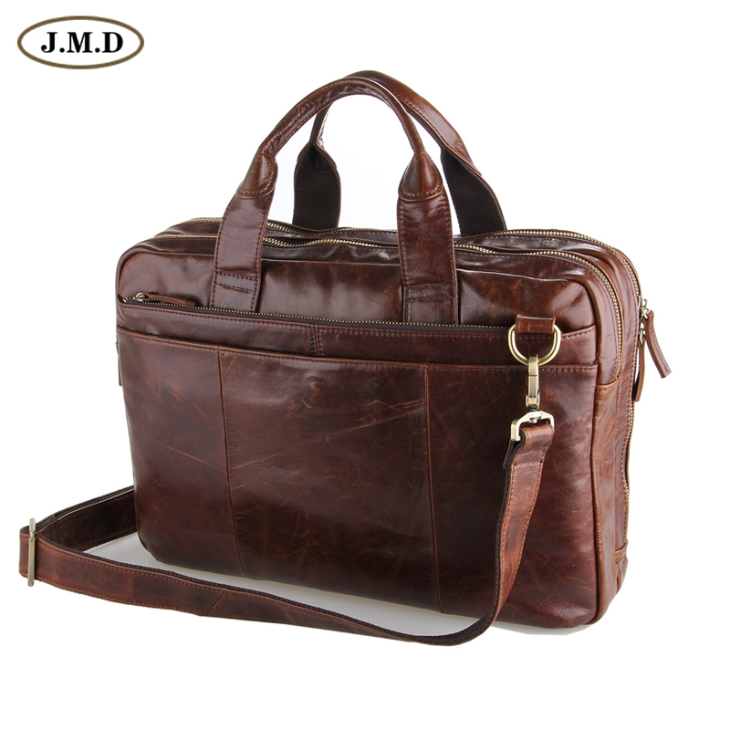 J.M.D Leather Men's  Brown Laptop Bag Handbag Briefcase Messenger 5 PCS/LOT 7092-2C