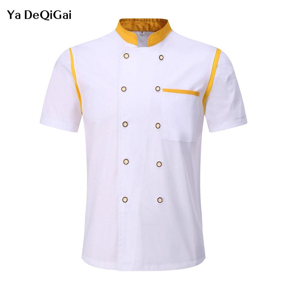 Wholesale Chef's Work Clothes Unisex Chef Jackets Hotel Kitchen Restaurant Uniforms Catering Cafe Waitress Chef Shirts Uniform