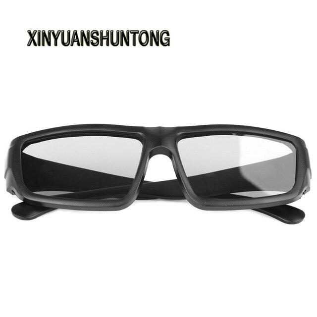 Xinyuanshuntong 3D Очки черный H4 круговой поляризацией Пассивные 3D стерео Очки для ТВ Real D 3D кинотеатров