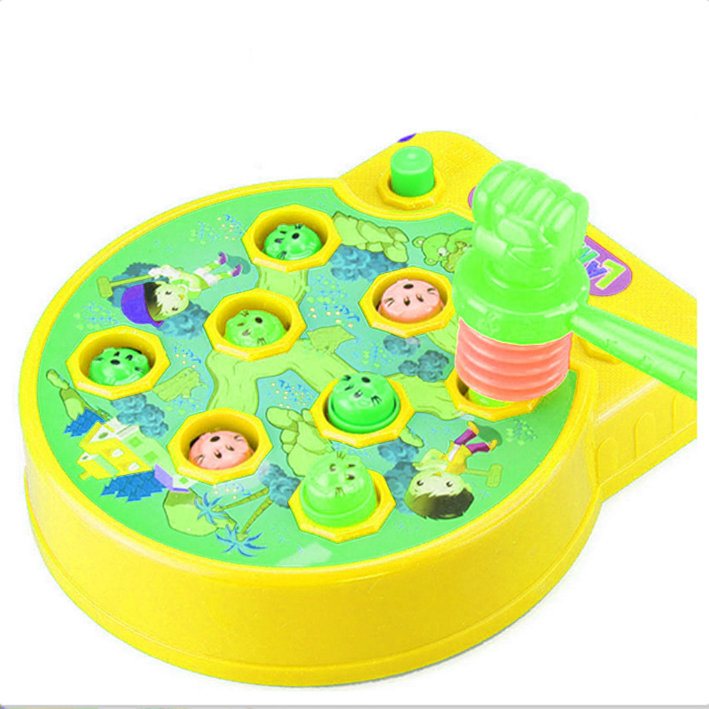 ZhenDuo Kids Electric Play Hamster Music Toys Plastic Hammer Game Family Whack-a-Mole knock on Animal Head Educational Toys