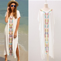 5ace0322490df4 Women Cover Ups Swimwear For Beaches Beach Capes Tunic And Dress Swim Suit  Up Embroidered Skirt. Bekijk Aanbieding. BerryPark Vrouwen Sexy ...