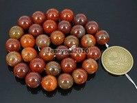 Натуральный яблочный JAS-за 12 мм Камни круглый шар Свободные Spacer Бусины 15 ''5 нитей/упаковка