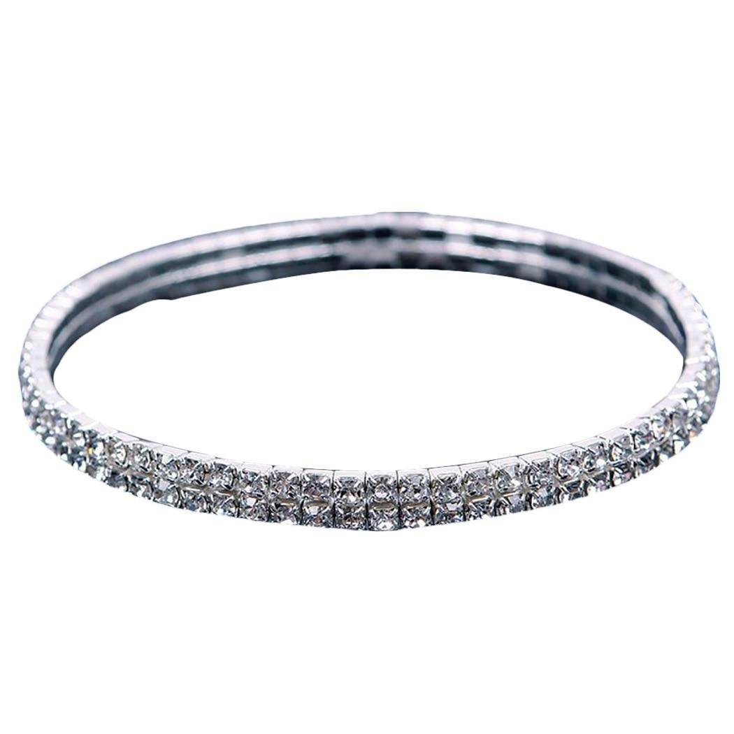 Shiny Crystal Rhinestone Elastic Anklets for Women Ankle Bracelet on the Leg Bracelet Layered Anklet Foot Jewelry enkelbandje 1