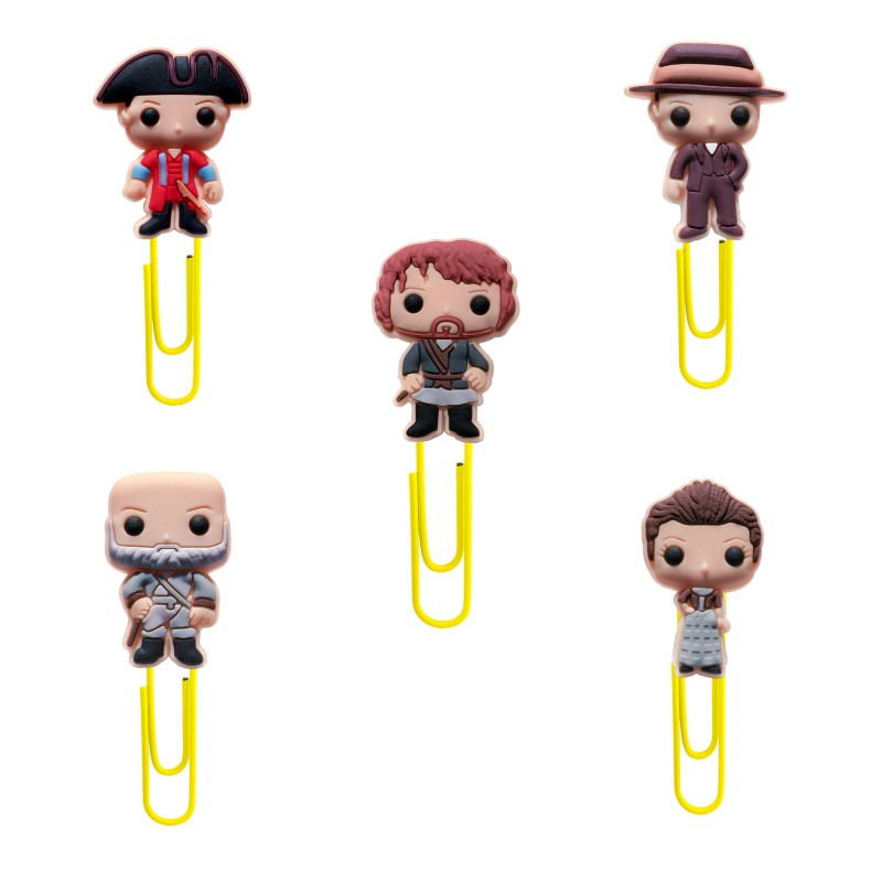 1pcs Stylish Outlander Cartoon Bookmarks Cute PVC Paper Clips For Kids School/Office Supplies Children Stationery Party Gifts
