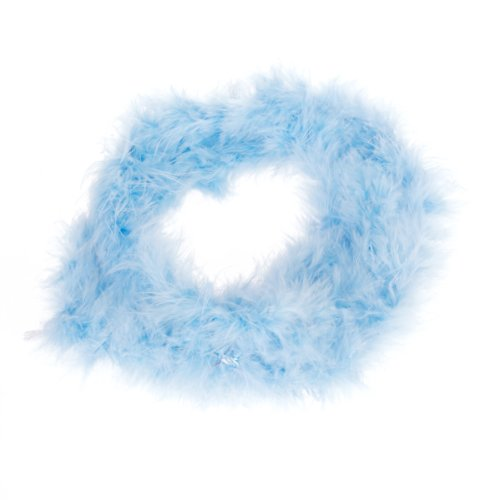 Blue Feather Boa Fluffy Craft Decoration 6.6 Feet Long