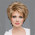 Sexy Perruque Women's Short Wavy wigs natural Hair Blonde wig mix back Brown hair Afro Americian Pixie cut wig ombre bob wig