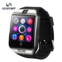 Seastary q18 pasómetro smart watch con pantalla táctil cámara tf tarjeta bluetooth smartwatch para android ios teléfono