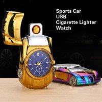 Military USB Charging Casual Men Quartz Watches With Cigarette Lighter Relogio Masculino Watch Racing Car Model