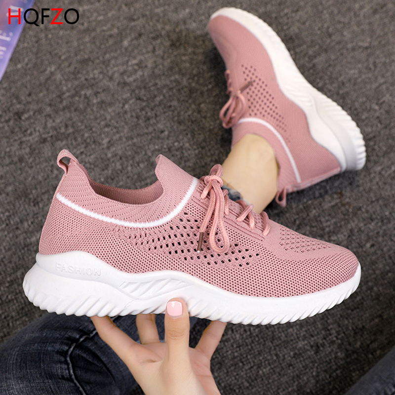 cb6f6295 Cheap HQFZO transpirable Casual amantes Runing zapatos Stretch Sock zapatos  de plataforma elástica zapatillas de deporte