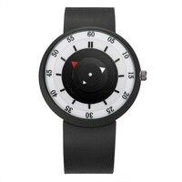 Пару часов мода Повседневное творческая тенденция диск Зеленый силиконовый секундная стрелка указателя и студенток кварцевые часы