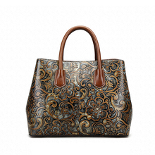 MAIHUI women leather handbags high quality real cow genuine leather shoulder bags new chinese style ladies embossing tote bag