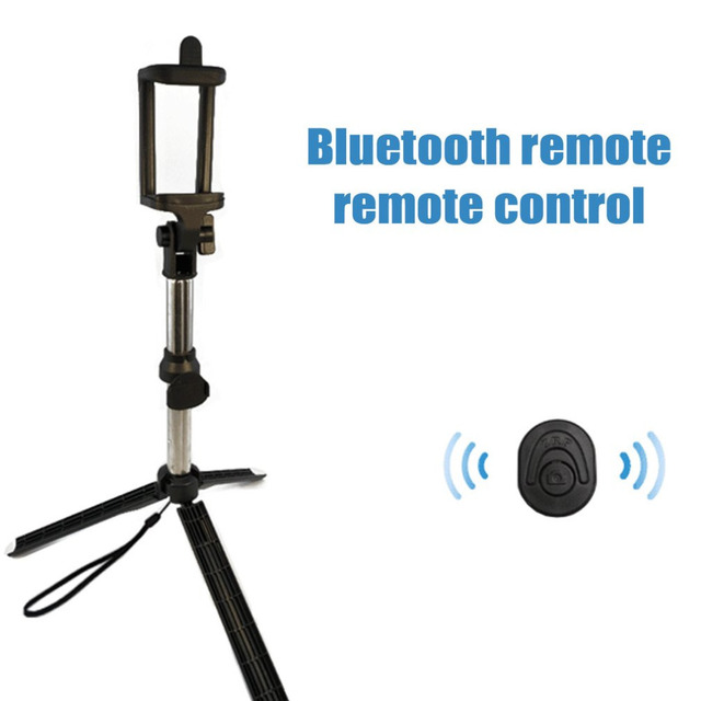 Wireless Bluetooth Remote Shutter Selfie Stick Mini Tripod Extendable Selfie Stick Universal for iOS Android Smartphone Dropship 2