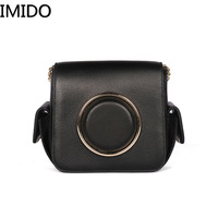 IMIDO Camera Pack 2019 New Personality Leather Women's Bag Casual Pure Color Women's Shoulder Brand name Designer Luxury Fashion