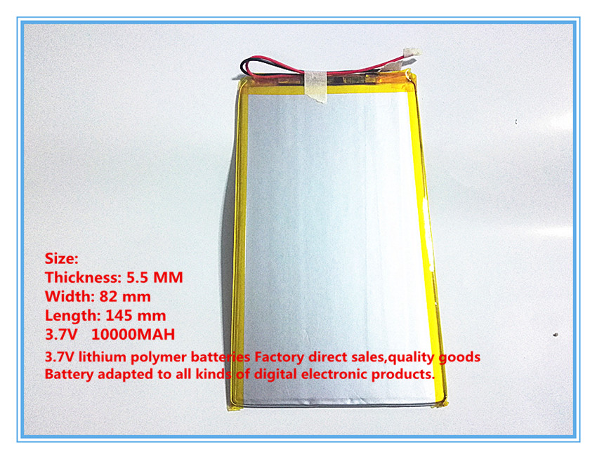 Free shipping 3.7 V 10000 mah tablet battery brand tablet gm lithium polymer battery 5582145 brand 3 7v special lithium polymer rechargeable battery 408090048090 tablet pc navigation battery