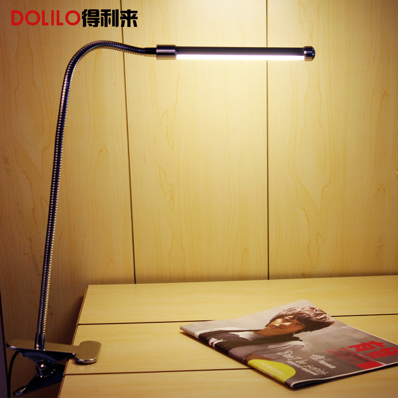 USB led desk lamp 5V clip led table lamp lampe de bureau gooseneck flexible table lamp with clip warm white to cool white usb 6 led white light desk lamp w switch clip white silver dc 5v 3 x aaa