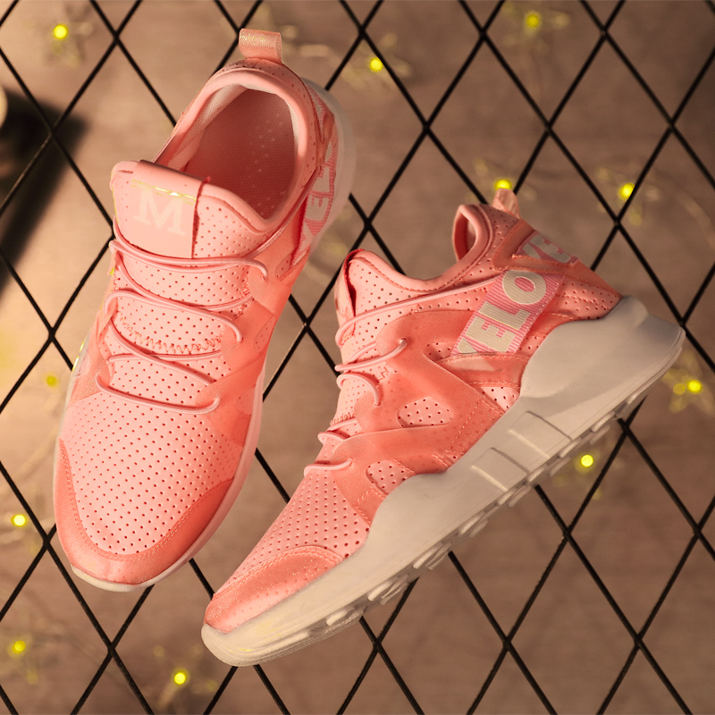 Running Shoes For Women 2018 Sneakers Breathable Basket Femme Superstar Sport Shoes Jogging Shoes Woman Gym Shoes Pink Brand