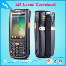 Free Shipping Handheld Data Terminal 4G Wireless Android 1D/2D Laser Barcode Scanner POS Data Collector PDA With Bluetooth, Wifi