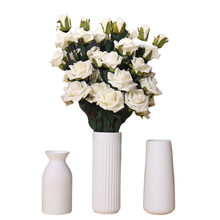 New Year Decoration Tabletop Flower Figurines Ceramic Geometry Vases Flower Vases For Decoration Craft Water Plant Vases Craft(China)