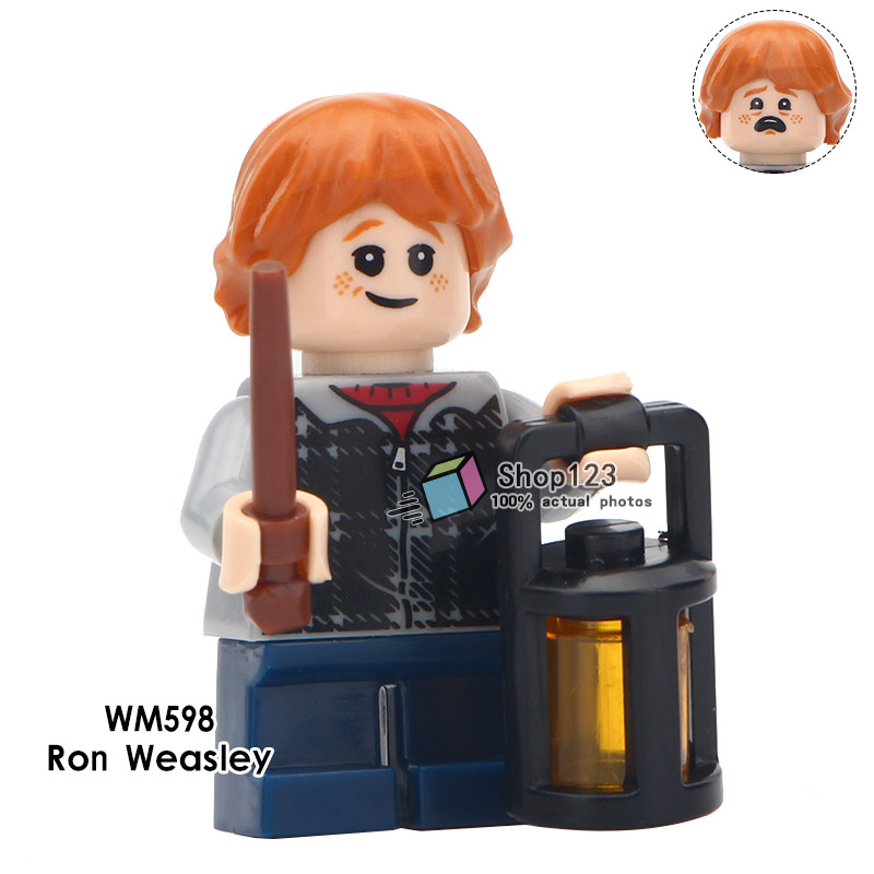20 Pz/lotto Blocchi Di Costruzione Harry Action Figures Potter Ron Weasley Malfoy Trolley Strega Lupin Legoings Giocattoli Dei Mattoni Per I Bambini