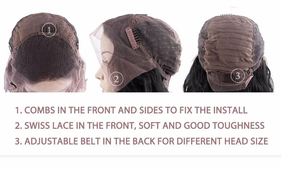 lace front human hair wigs for black women brazilian malaysian indian peruvian virgin hair (4)
