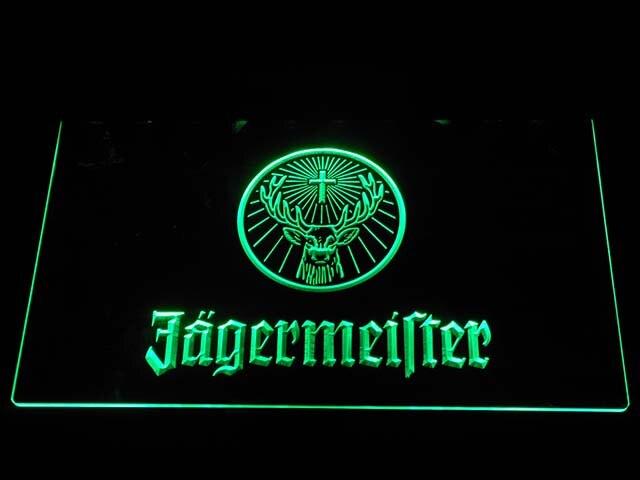A288 Jägermeister Deer kopf LED Neon Licht Zeichen