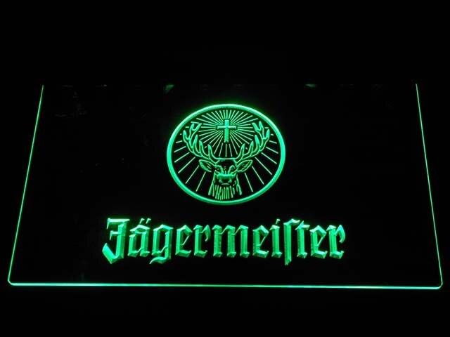 A288 Jagermeister Deer testa HA CONDOTTO LA Luce Al Neon Segni