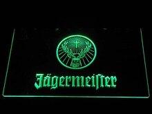 Светодио дный a288 Jagermeister голова оленя светодиодный неоновый знак