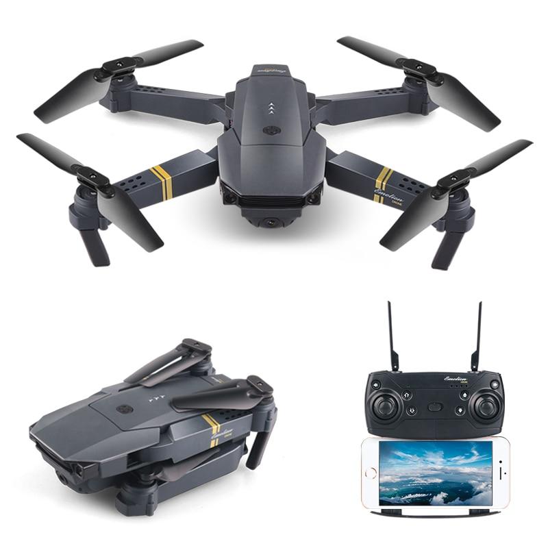 RC Quadcopter WIFI FPV HD de la Cámara de ángulo ancho plegable Mini altitud alta autofoto Drone sin cabeza del H47 E58 helicóptero