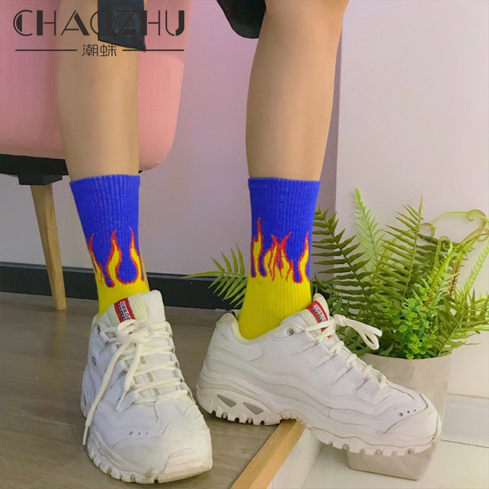 CHAOZHU Fashion   socks   calcetines soquettes ciorapi/meias sukka strumpor zokni juraab corap fire   socks   male boys young swag