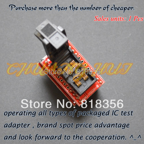 IC TEST Clamshell MSOP8 to DIP8 adapter CNV-MSOP-8 programmer adapter Pitch=0.65mm