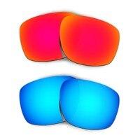HKUCO Para Tira os Óculos De Sol Lentes de Substituição Vermelho/Azul 2 Pares