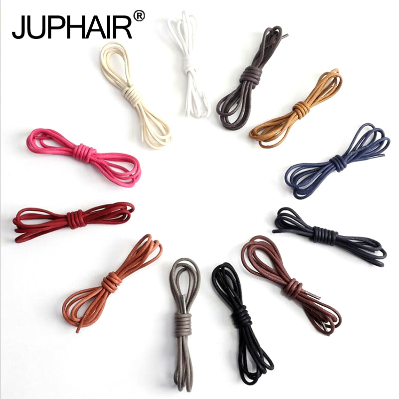 3 Pairs 60-140cm Fashion Casual Leather Laces High Quality Waxed Round Shoelaces Shoestring Boot Sports Shoes Cable Ropes Colors