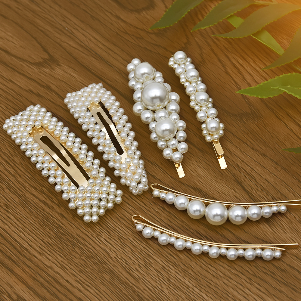yanqueens Korean 6 stlyes Acrylic Imitation Pearl Women
