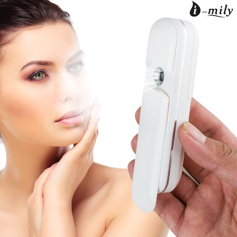 где купить Nano Handy Mist Spray Facial Mister for Eyelash Extensions USB Rechargeable Mini Beauty Instrument with Spray Bottle дешево