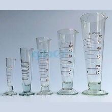 50 мл лабораторный стеклянный ножной аптекарный мерный стакан конический Градуированный с носиком