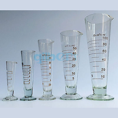 50ml Lab Glass Footed Apothecary Measuring Beaker Conical Graduated With Spout