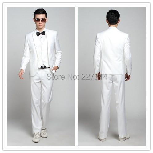 Online Shop 2015 men's suits men formal business suit white ...
