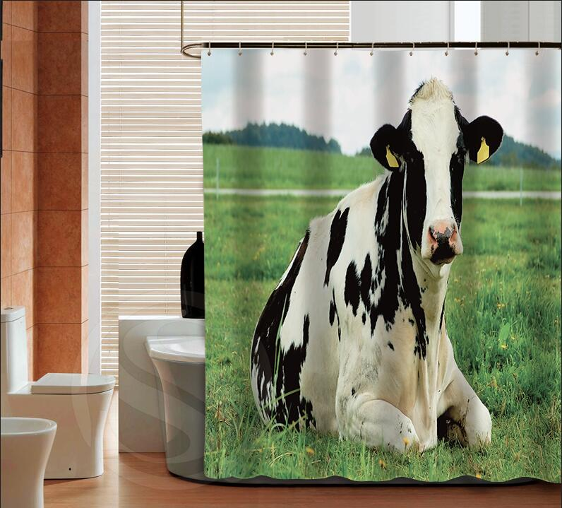 Por Dairy Cow Fashion Custom Shower Curtain Bathroom Decor Various Sizes Free Shipping More Size Sq0425 Zhh In Curtains From Home Garden On